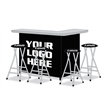 Custom L-Shaped Bar Display with Matching Stools - Looking for a Unique Display That is More Than a Canopy or Table? Our Portable Bar Inherently Invites People Over To Engage.