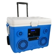 40-Quart Wheeled Cooler, Bluetooth PA and Power Station - A 40-quart cooler with a 350 watt Bluetooth PA system. Runs for 16 hours on a charge, and hold up to 48 cans.