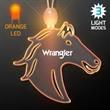Acrylic Horse Head Shape Necklace with Amber LED