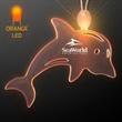 Acrylic Dolphin Shape Necklace with Amber LED