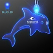 Acrylic Dolphin Shape Necklace with Blue LED