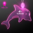 Acrylic Dolphin Shape Necklace with Pink LED