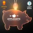 Acrylic Pig Shape Necklace with Amber LED