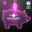 Acrylic Pig Shape Necklace with Pink LED