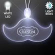 Acrylic Mustache Shape Necklace with White LED