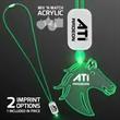 LED Neon Green Lanyards with Acrylic Horse Pendant