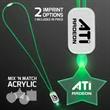 LED Neon Green Lanyard with Acrylic Star Pendant