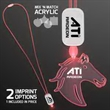 LED Neon Red Lanyards with Acrylic Horse Pendant