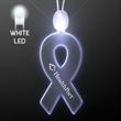 Light-up acrylic ribbon LED necklace