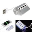 Aluminum 4 Ports USB Hub