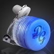 Light Up Flashing Blue LED Clip On Pin