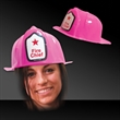 Pink Plastic Novelty Fire-Fighter Hat