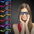 Custom Neon Billboard Sunglasses - Neon colored billboard sunglasses with full color imprint on both lenses.