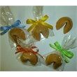 Custom Fortune Cookies - Fortune cookie with custom message in bag with a bow.