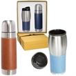 Tuscany™ Thermal Bottle & Tumbler Gift Set - Stainless steel thermal bottle and stainless steel tumbler.