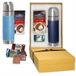 Ghirardelli® and Tuscany™ Thermos Gift Set - Stainless steel thermos gift set.