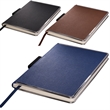 Naples (TM) Metallic-Trim Journal - 80-page journal with faux leather cover and metal trim.