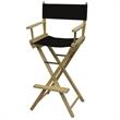 Directors Chair Unimprinted - Blank, bar height directors chair with foot rest.