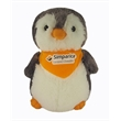 "11"" Grey Penguin with bandana and full color imprint"