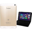 """iView 7.85"""" Tablet with Windows 8.1 - White/Gold iView 7.85"""" Tablet with Windows 8.1."""