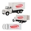 International Box Truck Pull Back - International box truck replica with pull back function.
