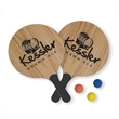 Paddle Ball Game - Set of Two - Paddle ball game set with two paddles and one ball.
