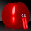 "Translucent Red 24"" Inflatable Beach Ball with Glow Stick"