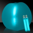 "Translucent Aqua 24"" Inflatable Beach Ball with Glow Stick"