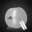 "Translucent White 24"" Inflatable Beach Ball with Glow Stick - Translucent White 24"" inflatable glowing beach ball with two 6"" glow light sticks."