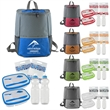 Chic Cooler Backpack Set For 2 - Chic Cooler Backpack with full top opening.
