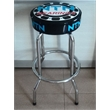 Single Ring Bar Stool With Steel Frame And Swivel Seat