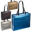 Metallic Euro Tote - Non-woven tote bag with metallic finish