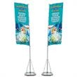 Giant Outdoor Banner Display - Giant outdoor banner display double-sided kit with telescoping pole.
