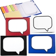 """Logo-Burst™ Sticky Book™ - 2"""" x 3"""" yellow sticky pad and 25 sheets of page marker strips in five neon colors."""