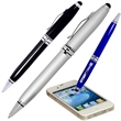 Executive Stylus/Pen - Aluminum twist-action ballpoint pen with soft silicone tip.