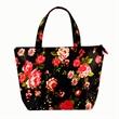 "Custom 0g Tote Bag13""x9""x4"" - Small cosmetic tote bag with 16"" self-material handles and zipper closure"