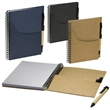 Eco Handy Notebook with Pocket/Pen Combo - Handy jotter with pockets and pen combo.