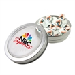 Large Top View Tin - Imprinted Round Mints