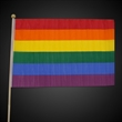 "Rainbow Flag - Our large 12"" x 18"" cloth freedom flags is perfect for parades and other gay pride events. Sorry, this item cannot be imprinted."