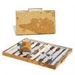 15 Tan Map Style Backgammon - Tan map style backgammon.