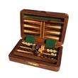 "Wood Travel Backgammon Set - 6"" in. - Wood travel backgammon set - 6 in."