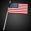 American Flags with Wooden Handle - Our American made flags are great for any Patriotic event.