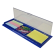 Ruler caddy - Ruler caddy with clips and notes.