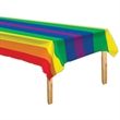 Rainbow Plastic Table Cover