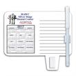 Calendar / Memo Magnet with Clip - Calendar and memo magnet with clip, wet erasable pen and four color process imprinting.