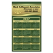 """Calendar Sq Crnr Magnet 2-29/32 x 4-15/16 - 2 29/32"""" x 4 15/16"""" calendar magnet with square corners and full color process customization."""