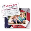 Calendar Punch Out Picture Frame - Picture frame with calendar magnet.
