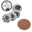 Round Absorbent Ceramic Coaster - Full Color Round Absorbent Ceramic Coaster with Cork Backing