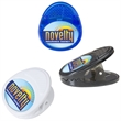 """Domed Magnet Clip - 2 1/16"""" x 2 1/4"""" magnetic clip with sturdy, modern design that will hold multiple sheets of paper."""