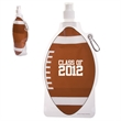 HydroPouch™ 22 oz. Football Collapsible Water Bottle - 22 oz. collapsible water bottle with stock football image.